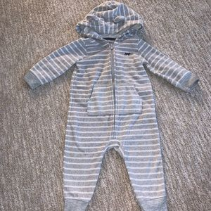carter's bear hat jumpsuit size 12 m